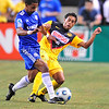 July 26 2009 World Football Challenge - Chelsea FC v Club America:<br /> #15 Guillermo Cerda of CA  in action at the Cowboys Stadium in Arlington, Texas.<br /> Chelsa FC beats Club America 2-0.
