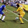 July 26 2009 World Football Challenge - Chelsea FC v Club America:<br />  #18 Angel Reyna of CA in action at the Cowboys Stadium in Arlington, Texas.<br /> Chelsa FC beats Club America 2-0.