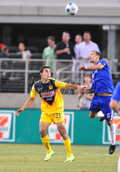 July 26 2009 World Football Challenge - Chelsea FC v Club America:<br />  #6 Ricardo Carvalho of FC in action at the Cowboys Stadium in Arlington, Texas.<br /> Chelsa FC beats Club America 2-0.
