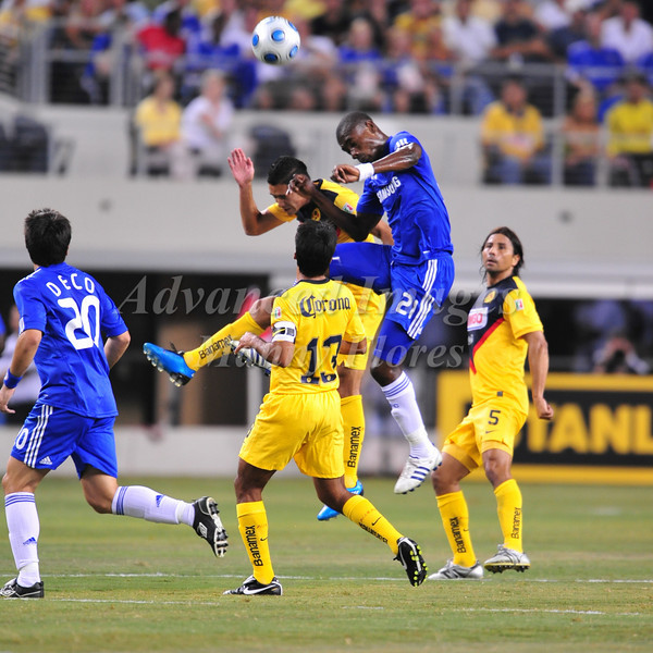 July 26 2009 World Football Challenge - Chelsea FC v Club America:<br />  #21 Salomon Kalou of FC in action at the Cowboys Stadium in Arlington, Texas.<br /> Chelsea FC beats Club America 2-0.