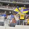 July 26 2009 World Football Challenge - Chelsea FC v Club America:<br />  CA fans  in action at the Cowboys Stadium in Arlington, Texas.<br /> Chelsa FC beats Club America 2-0.