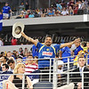 July 26 2009 World Football Challenge - Chelsea FC v Club America:<br />  CA fan in action at the Cowboys Stadium in Arlington, Texas.<br /> Chelsea FC beats Club America 2-0.