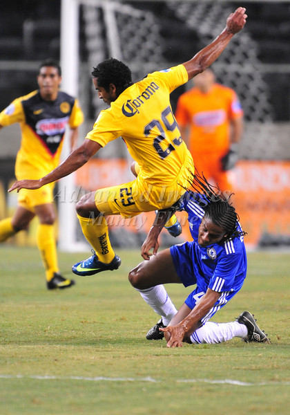 July 26 2009 World Football Challenge - Chelsea FC v Club America:<br />  #29 Jean Beausejour of CA in action at the Cowboys Stadium in Arlington, Texas.<br /> Chelsa FC beats Club America 2-0.