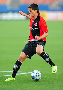 April 10th, 2009: Eintracht Frankfurt Stefano Cincotta #15 in action during a Super U19 semi-final game at the Dr. Pepper Dallas Cup between the Eintracht Frankfurt and the Vancouver Whitecaps  at the Pizza Hut Park Stadium in Frisco, Tx.
