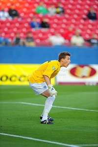 April 10th, 2009: Vancouver Whitcaps Goalie Julien Levesque-Latendresse #1 in action during a Super U19 semi-final game at the Dr. Pepper Dallas Cup between the Eintracht Frankfurt and the Vancouver Whitecaps  at the Pizza Hut Park Stadium in Frisco, Tx.
