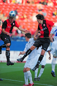 April 10th, 2009: Eintracht Frankfurt Kevin Kraus #14 in action during a Super U19 semi-final game at the Dr. Pepper Dallas Cup between the Eintracht Frankfurt and the Vancouver Whitecaps  at the Pizza Hut Park Stadium in Frisco, Tx.