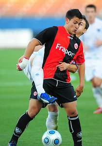 April 10th, 2009: Eintracht Frankfurt Marcos Alvarez #9 in action during a Super U19 semi-final game at the Dr. Pepper Dallas Cup between the Eintracht Frankfurt and the Vancouver Whitecaps  at the Pizza Hut Park Stadium in Frisco, Tx.