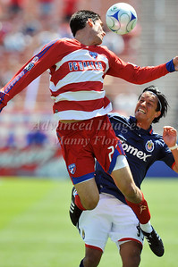 29, March 2009:   FC Dallas defender Steve Purdy #25 & Chivas USA Forward Eduardo Lillingston #99 in action during the soccer game between FC Dallas & Chivas USA at the Pizza Hut Stadium in Frisco,TX. Chivas USA  beat FC Dallas 2-0. Manny Flores/Icon SMI