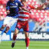 29, March 2009:  <br /> FC Dallas defender Aaron Pitchkolan #17 & Chivas USA middle Jesse Marsch (Cap) #15 in action during the soccer game between FC Dallas & Chivas USA at the Pizza Hut Stadium in Frisco,TX. Chivas USA  beat FC Dallas 2-0.<br /> Manny Flores/Icon SMI