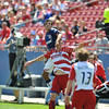 29, March 2009:  <br /> Chivas USA defender Jonathan Bornstein  #13 & FC Dallas forward Kenny Cooper #33 in action during the soccer game between FC Dallas & Chivas USA at the Pizza Hut Stadium in Frisco,TX. Chivas USA  beat FC Dallas 2-0.<br /> Manny Flores/Icon SMI