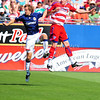 29, March 2009:  <br /> FC Dallas forward Kenny Cooper #33 & Chivas USA Defender Carey Talley #12<br /> in action during the soccer game between FC Dallas & Chivas USA at the Pizza Hut Stadium in Frisco,TX. Chivas USA  beat FC Dallas 2-0.<br /> Manny Flores/Icon SMI