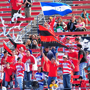 29, March 2009:   FC Dallas Fans in action during the soccer game between FC Dallas & Chivas USA at the Pizza Hut Stadium in Frisco,TX. Chivas USA  beat FC Dallas 2-0. Manny Flores/Icon SMI