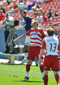 29, March 2009:   Chivas USA defender Jonathan Bornstein  #13 & FC Dallas forward Kenny Cooper #33 in action during the soccer game between FC Dallas & Chivas USA at the Pizza Hut Stadium in Frisco,TX. Chivas USA  beat FC Dallas 2-0. Manny Flores/Icon SMI