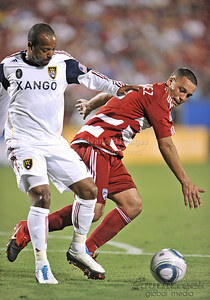 17 July 2010:   FC Dallas #2  D/M Daniel Hernandez goes for the ball during the game between Real Salt Lake and FC Dallas at the Pizza Hut Stadium in Frisco, TX. Mandatory Credit: Manny Flores/Southcreek Global