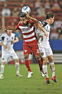 17 July 2010:   FC Dallas #10 M/F David Ferreira goes upf for a header during the game between Real Salt Lake and FC Dallas at the Pizza Hut Stadium in Frisco, TX. Mandatory Credit: Manny Flores/Southcreek Global