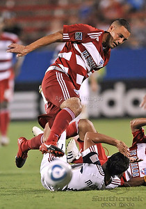 17 July 2010:   FC Dallas #2 D/M Daniel Hernandez in action during the game between Real Salt Lake and FC Dallas at the Pizza Hut Stadium in Frisco, TX. Mandatory Credit: Manny Flores/Southcreek Global