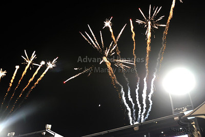 17 July 2010:   Fireworks exlpodes above the stadium as FC Dallas scores during the game between Real Salt Lake and FC Dallas at the Pizza Hut Stadium in Frisco, TX. Mandatory Credit: Manny Flores/Southcreek Global