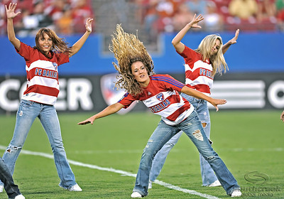 17 July 2010:   FC Dallas Cheerleaders perform during the game between Real Salt Lake and FC Dallas at the Pizza Hut Stadium in Frisco, TX. Mandatory Credit: Manny Flores/Southcreek Global