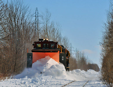 MM&A Snow Plow Extra, Iberville Qc March 17 2014