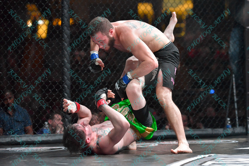 During the championship fight of the Mixed Martial Arts match between  DAN BUSCH and BUDDY MCGINNIS at the Fight Hard MMA held at the Family Arena in St. Charles MO. where DAN BUSCH defeated BUDDY MCGINNIS