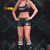 One of the ring girls at the Mixed Martial Arts Fight Hard MMA held at the Family Arena in St. Charles MO.
