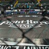 The ring stands ready waiting for the fighters during the Mixed Martial Arts match between  and  at the Fight Hard MMA held at the Family Arena in St. Charles MO.
