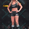 A ring girl during the Mixed Martial Arts match at the Fight Hard MMA held at the Family Arena in St. Charles MO.