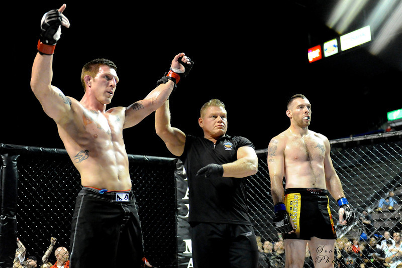 Ian Emmons wins by unanimous decision over Max Holloway during the American MMA Ohio Championships at US Bank Arena in Cincinnati,Ohio. during the American MMA Ohio Championships at US Bank Arena in Cincinnati,Ohio.