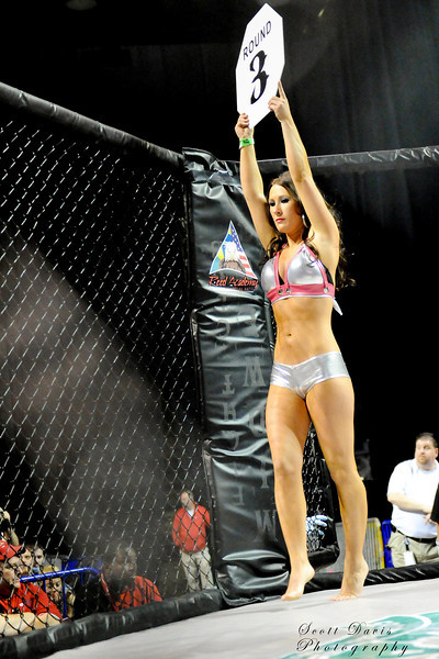 Ring girl during the American MMA Ohio Championships at US Bank Arena in Cincinnati,Ohio. during the American MMA Ohio Championships at US Bank Arena in Cincinnati,Ohio.