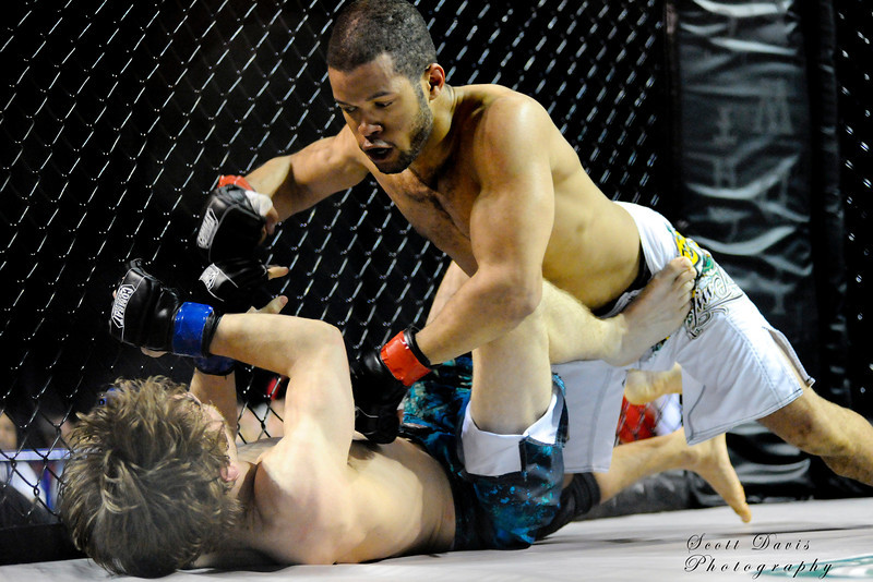 Cortez Phelia (top) vs Joe Szczublewski during the American MMA Ohio Championships at US Bank Arena in Cincinnati,Ohio. during the American MMA Ohio Championships at US Bank Arena in Cincinnati,Ohio.