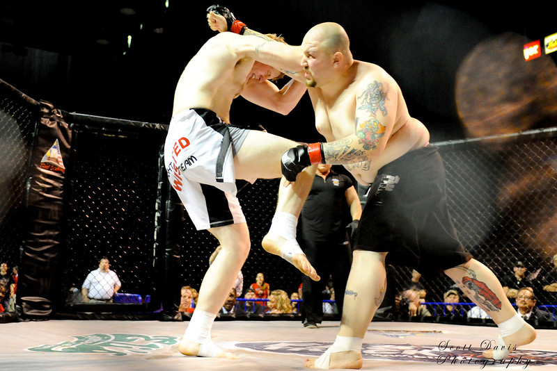 Tim Dunn (Right) vs Kody Charlton during the American MMA Ohio Championships at US Bank Arena in Cincinnati,Ohio. during the American MMA Ohio Championships at US Bank Arena in Cincinnati,Ohio.