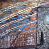 Miriam Shavit,<br /> Museum in Auschwitz, 1981<br /> Mixed Media on Wood