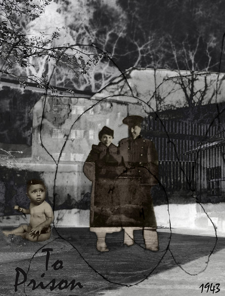 Vered Galor, 2006<br /> To Prison, 1943<br /> Photographic digital Collage