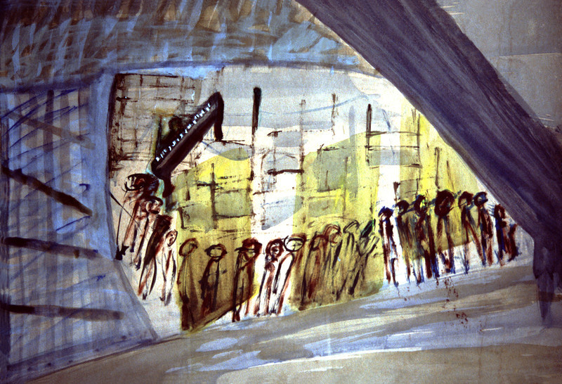 Miriam Shavit,<br /> And the Music Played on, 1977<br /> Watercolor o Paper