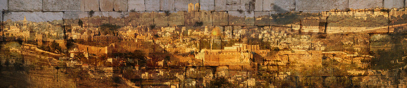 Jerusalem of Gold III, 2013<br /> Photographic Digital Collage