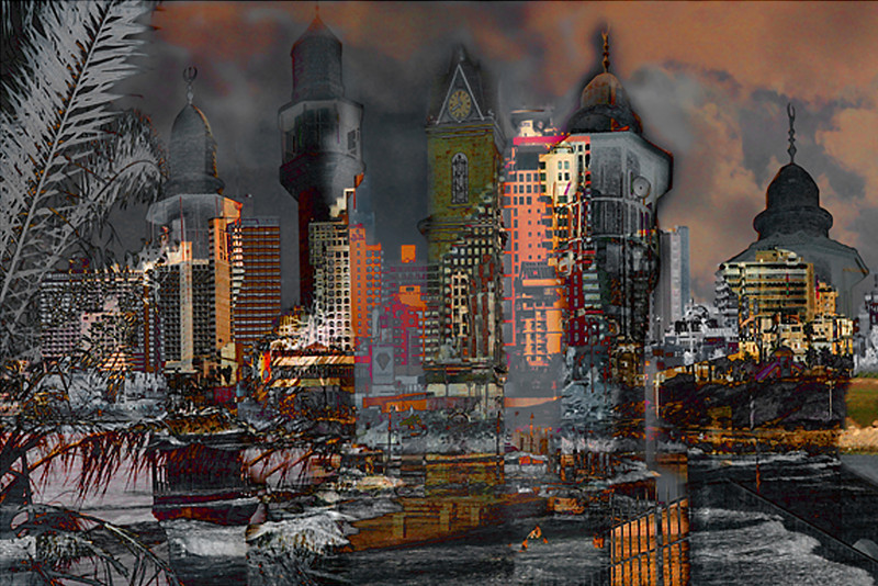 Tel Aviv Towers V, 2008<br /> Photographic Digital Collage
