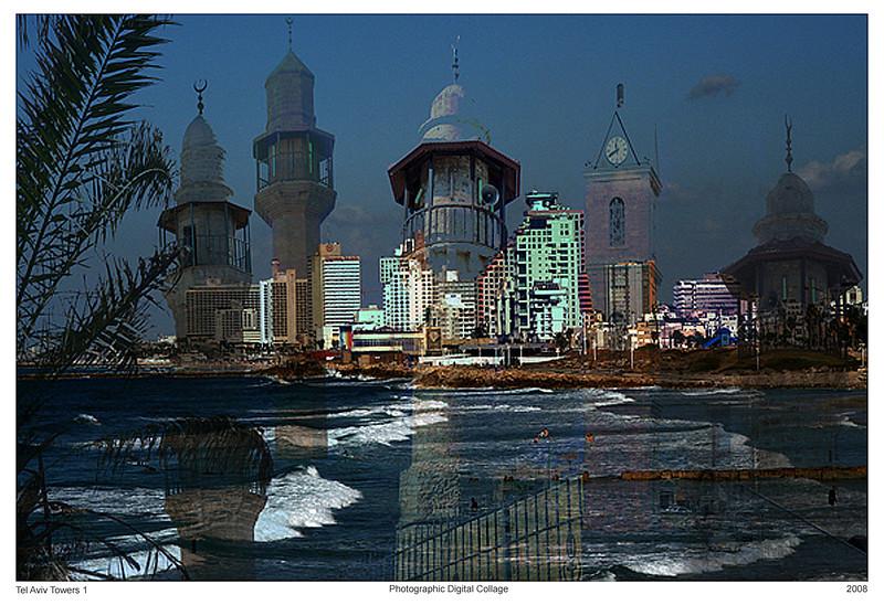 Tel Aviv Towers I, 2008<br /> Photographic Digital Collage