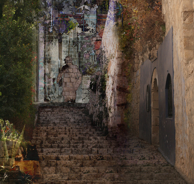 Ghost of Tzfat, 2008<br /> Photographic Digital Collage