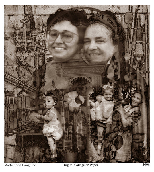 Mother and Daughter, 2006<br /> Photographic Digital Collage