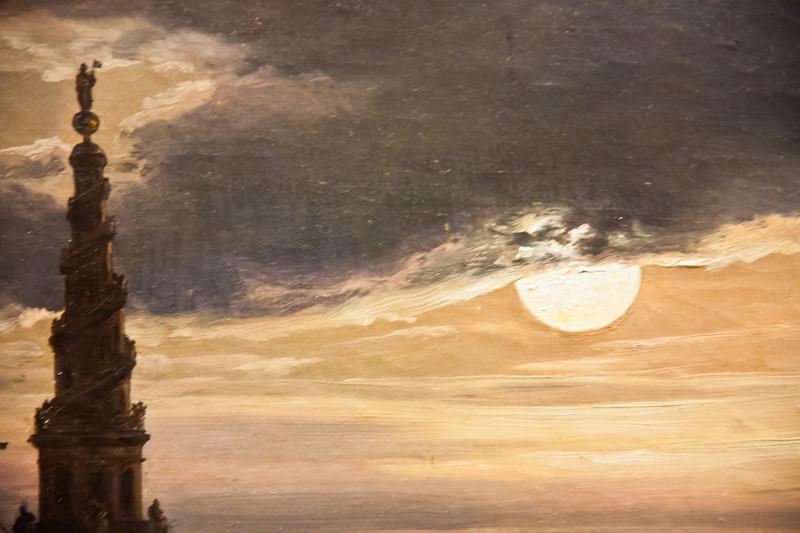 Copenhagen Harbor by Moonlight; Johan Christian Dahl; 1846