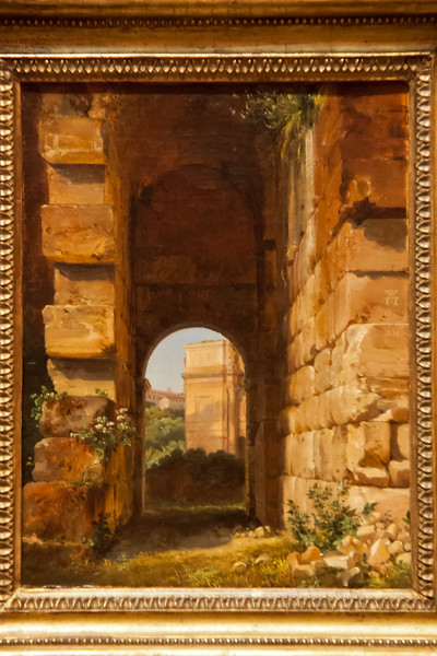 The Arch of Constantine Seen from the Colosseum; Lancelot-Theodore Turpin de Crisse; 1818