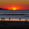 Evening surfers