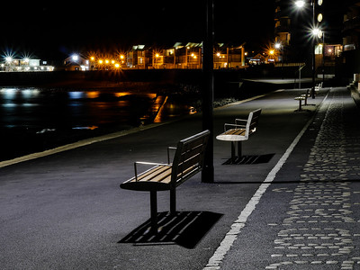 Sea front benches