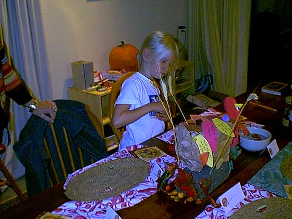 Meg & paper turkey 11-04