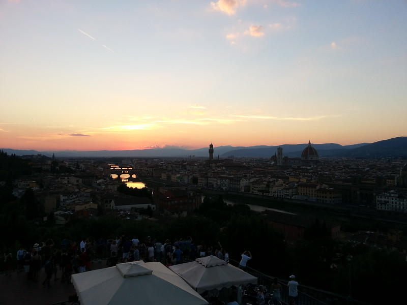 6-28-15 Firenze sunset