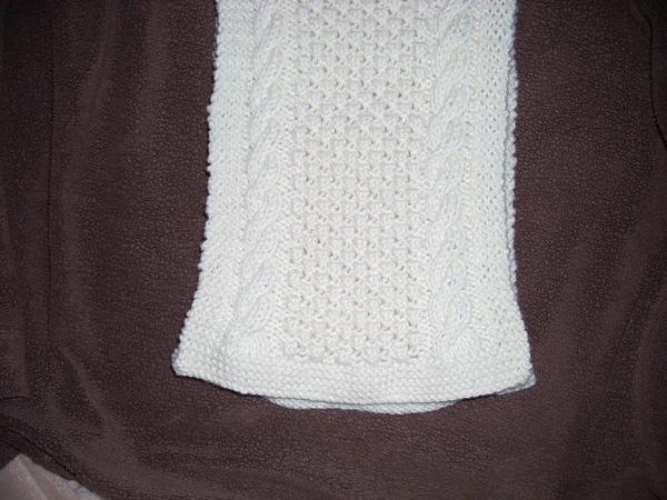 1-15-14 Aran scarf #6 002