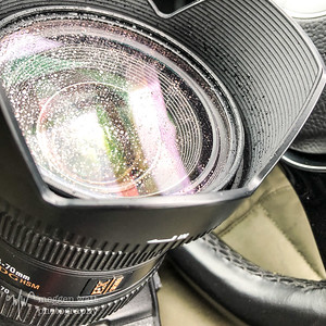 TLR-02252019-5546 snow melting on camera lens