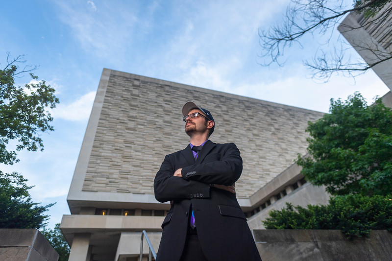 Photoshoot of Matthew Meyer on July 10, 2019 on IU Bloomington's Campus (Alex Kumar/Emily Sterneman Photo)