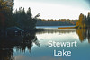 Stewart Lake, Lake County, off Drummond Road.<br /> A good fishing lake with a concrete boat ramp and dock.