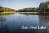 Dam Five Lake.  Lake County Road 7 in the Superior National Forest.